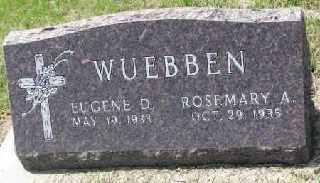 WUEBBEN, EUGENE D. - Cedar County, Nebraska | EUGENE D. WUEBBEN - Nebraska Gravestone Photos