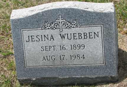 WUEBBEN, JESINA - Cedar County, Nebraska | JESINA WUEBBEN - Nebraska Gravestone Photos
