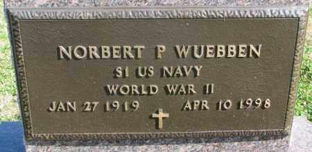 WUEBBEN, NORBERT P. (WW II) - Cedar County, Nebraska | NORBERT P. (WW II) WUEBBEN - Nebraska Gravestone Photos