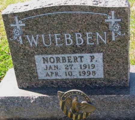 WUEBBEN, NORBERT P. - Cedar County, Nebraska   NORBERT P. WUEBBEN - Nebraska Gravestone Photos