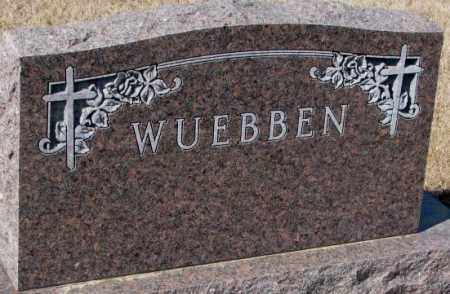 WUEBBEN, PLOT - Cedar County, Nebraska | PLOT WUEBBEN - Nebraska Gravestone Photos