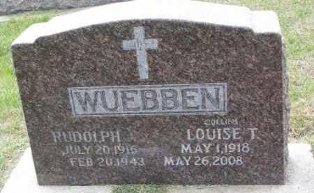 WUEBBEN, LOUISE T. - Cedar County, Nebraska | LOUISE T. WUEBBEN - Nebraska Gravestone Photos