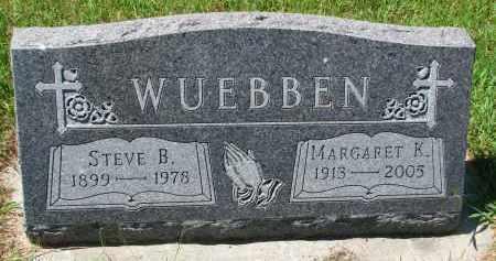WUEBBEN, MARGARET K. - Cedar County, Nebraska | MARGARET K. WUEBBEN - Nebraska Gravestone Photos