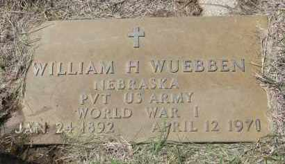 WUEBBEN, WILLIAM H. - Cedar County, Nebraska | WILLIAM H. WUEBBEN - Nebraska Gravestone Photos