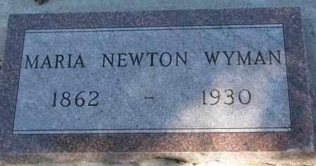 NEWTON WYMAN, MARIA - Cedar County, Nebraska | MARIA NEWTON WYMAN - Nebraska Gravestone Photos