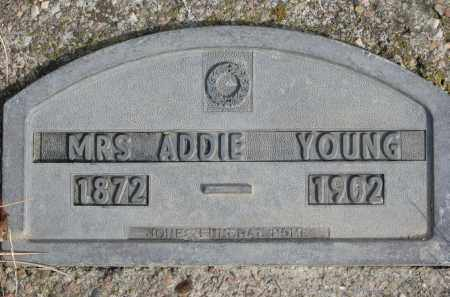 YOUNG, ADDIE - Cedar County, Nebraska | ADDIE YOUNG - Nebraska Gravestone Photos