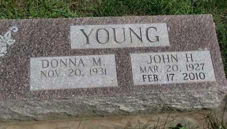 YOUNG, JOHN H. - Cedar County, Nebraska | JOHN H. YOUNG - Nebraska Gravestone Photos