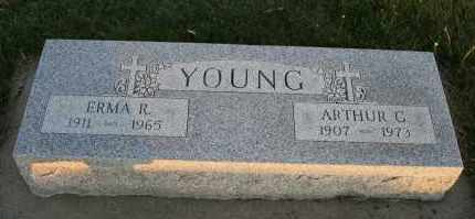 YOUNG, ERMA R - Cedar County, Nebraska | ERMA R YOUNG - Nebraska Gravestone Photos