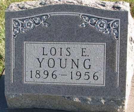 YOUNG, LOIS E. - Cedar County, Nebraska | LOIS E. YOUNG - Nebraska Gravestone Photos
