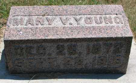 YOUNG, MARY V. - Cedar County, Nebraska | MARY V. YOUNG - Nebraska Gravestone Photos