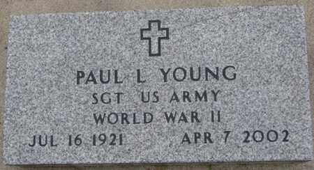 YOUNG, PAUL L. (WW II MARKER) - Cedar County, Nebraska   PAUL L. (WW II MARKER) YOUNG - Nebraska Gravestone Photos