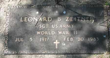 ZEITNER, LEONARD B. - Cedar County, Nebraska | LEONARD B. ZEITNER - Nebraska Gravestone Photos
