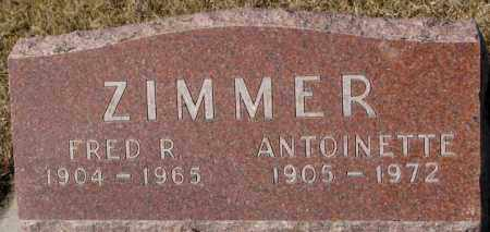 ZIMMER, ANTOINETTE - Cedar County, Nebraska | ANTOINETTE ZIMMER - Nebraska Gravestone Photos