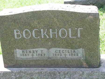 BOCKHOLT, HENRY T. - Cedar County, Nebraska | HENRY T. BOCKHOLT - Nebraska Gravestone Photos