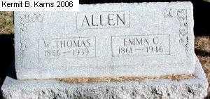 ALLEN, EMMA C. - Chase County, Nebraska | EMMA C. ALLEN - Nebraska Gravestone Photos