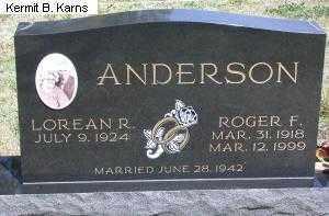 ANDERSON, ROGER F. - Chase County, Nebraska | ROGER F. ANDERSON - Nebraska Gravestone Photos