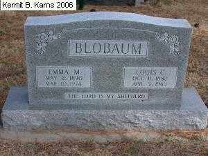 BLOBAUM, LOUIS CARL - Chase County, Nebraska | LOUIS CARL BLOBAUM - Nebraska Gravestone Photos