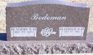 TROXEL BODEMAN, NORMA ELLEN - Chase County, Nebraska | NORMA ELLEN TROXEL BODEMAN - Nebraska Gravestone Photos