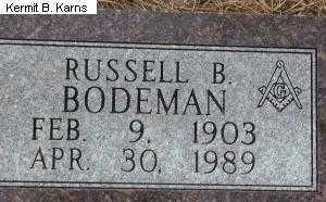 BODEMAN, RUSSELL B. - Chase County, Nebraska | RUSSELL B. BODEMAN - Nebraska Gravestone Photos