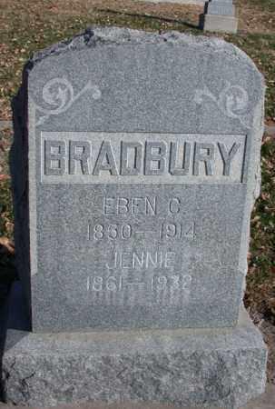 PLOWMAN BRADBURY, JENNIE - Chase County, Nebraska | JENNIE PLOWMAN BRADBURY - Nebraska Gravestone Photos