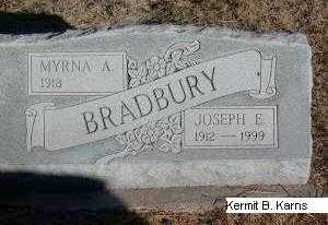 ATHEY BRADBURY, MYRNA ARDITH - Chase County, Nebraska | MYRNA ARDITH ATHEY BRADBURY - Nebraska Gravestone Photos