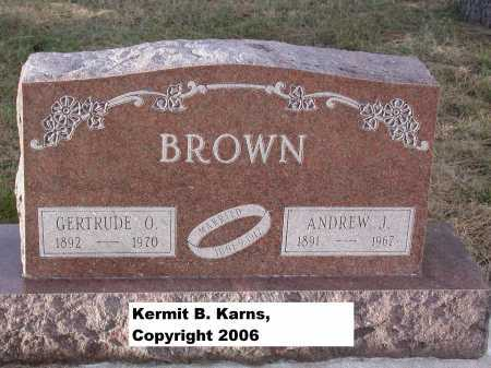 BROWN, GERTRUDE O. - Chase County, Nebraska | GERTRUDE O. BROWN - Nebraska Gravestone Photos