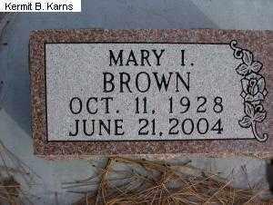 KANOST BROWN, MARY I. - Chase County, Nebraska | MARY I. KANOST BROWN - Nebraska Gravestone Photos