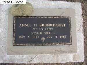 BRUNKHORST, ANSEL H - Chase County, Nebraska | ANSEL H BRUNKHORST - Nebraska Gravestone Photos