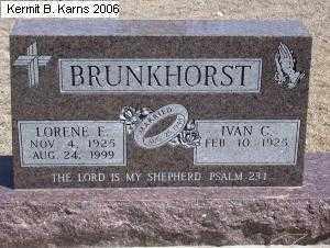BRUNKHORST, LORENE EMMA ELIZABETH - Chase County, Nebraska | LORENE EMMA ELIZABETH BRUNKHORST - Nebraska Gravestone Photos