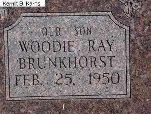 BRUNKHORST, WOODIE RAY - Chase County, Nebraska | WOODIE RAY BRUNKHORST - Nebraska Gravestone Photos