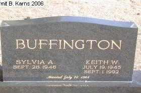 BUFFINGTON, KEITH WAYNE - Chase County, Nebraska | KEITH WAYNE BUFFINGTON - Nebraska Gravestone Photos