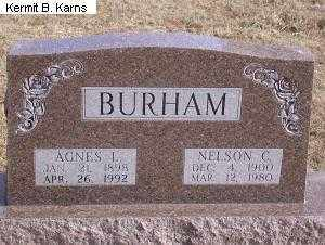 VLASIN BURHAM, ANGES LYDIA 1898-1992 - Chase County, Nebraska | ANGES LYDIA 1898-1992 VLASIN BURHAM - Nebraska Gravestone Photos