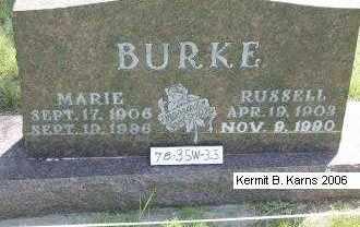 BURKE, RUSSEL - Chase County, Nebraska | RUSSEL BURKE - Nebraska Gravestone Photos