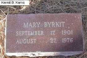 BYRKIT, MARY - Chase County, Nebraska | MARY BYRKIT - Nebraska Gravestone Photos