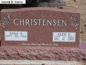 CHRISTENSEN, GLEN D. - Chase County, Nebraska   GLEN D. CHRISTENSEN - Nebraska Gravestone Photos