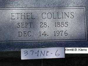 DITTON COLLINS, ETHEL - Chase County, Nebraska | ETHEL DITTON COLLINS - Nebraska Gravestone Photos