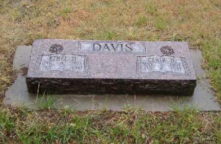 STEVENSON DAVIS, ETHEL ELLEN - Chase County, Nebraska | ETHEL ELLEN STEVENSON DAVIS - Nebraska Gravestone Photos