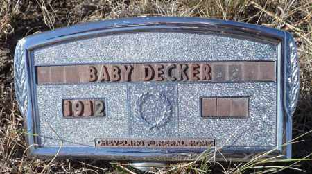 DECKER, MALE INFANT STILLBORN - Chase County, Nebraska | MALE INFANT STILLBORN DECKER - Nebraska Gravestone Photos
