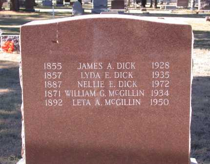 DICK, NELLIE EDITH - Chase County, Nebraska | NELLIE EDITH DICK - Nebraska Gravestone Photos