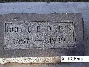 DITTON, DOLLIE E. - Chase County, Nebraska | DOLLIE E. DITTON - Nebraska Gravestone Photos