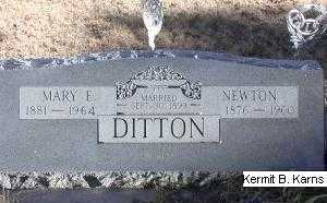 DITTON, NEWTON - Chase County, Nebraska   NEWTON DITTON - Nebraska Gravestone Photos
