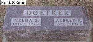 DOETKER, ALBERT HERMAN - Chase County, Nebraska | ALBERT HERMAN DOETKER - Nebraska Gravestone Photos