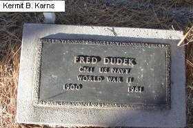 DUDEK, FRED - Chase County, Nebraska   FRED DUDEK - Nebraska Gravestone Photos