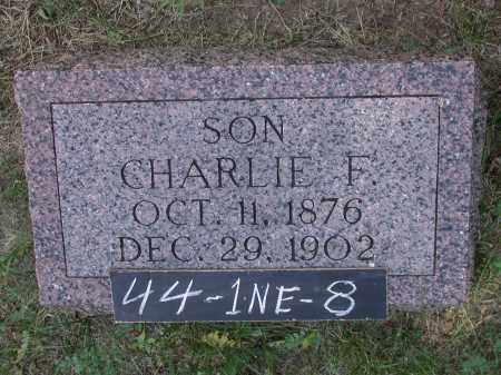 DUNBAR, CHARLIE F. - Chase County, Nebraska | CHARLIE F. DUNBAR - Nebraska Gravestone Photos
