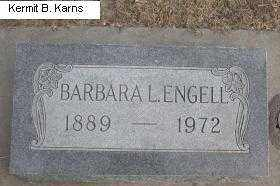ENGELL, BARBARA LOUIS - Chase County, Nebraska | BARBARA LOUIS ENGELL - Nebraska Gravestone Photos