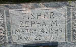 FISHER, ZEPHA MELVINA - Chase County, Nebraska | ZEPHA MELVINA FISHER - Nebraska Gravestone Photos