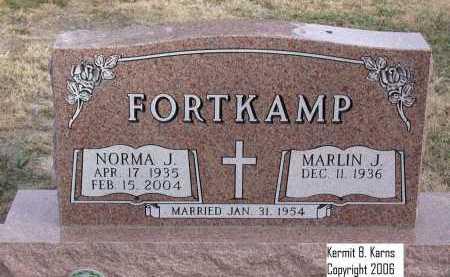 FORTKAMP, NORMA J. - Chase County, Nebraska | NORMA J. FORTKAMP - Nebraska Gravestone Photos