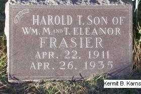 FRASIER, HAROLD T. - Chase County, Nebraska | HAROLD T. FRASIER - Nebraska Gravestone Photos