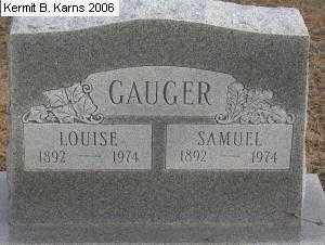 GAUGER, SAMUEL 1892-1974 - Chase County, Nebraska | SAMUEL 1892-1974 GAUGER - Nebraska Gravestone Photos