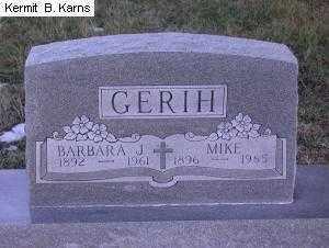 GERIH, BARBARA JOSEPHINE 1892-1961 - Chase County, Nebraska | BARBARA JOSEPHINE 1892-1961 GERIH - Nebraska Gravestone Photos